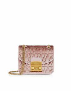 Furla Designer Handbags, Quilted Velvet Metropolis Cometa Mini Crossbody Bag