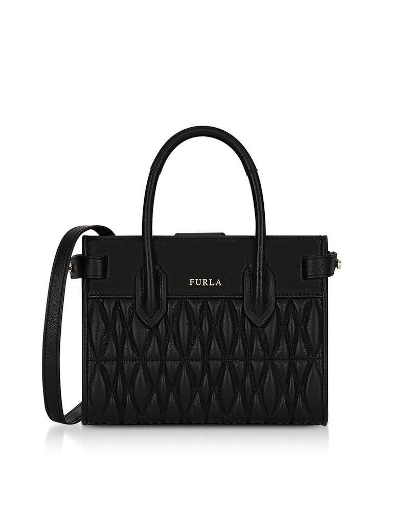 Furla Designer Handbags, Quilted Nappa Leather Pin Cometa Mini Crossbody