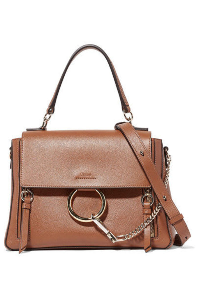 Chloé - Faye Day Large Textured-leather Shoulder Bag - Tan