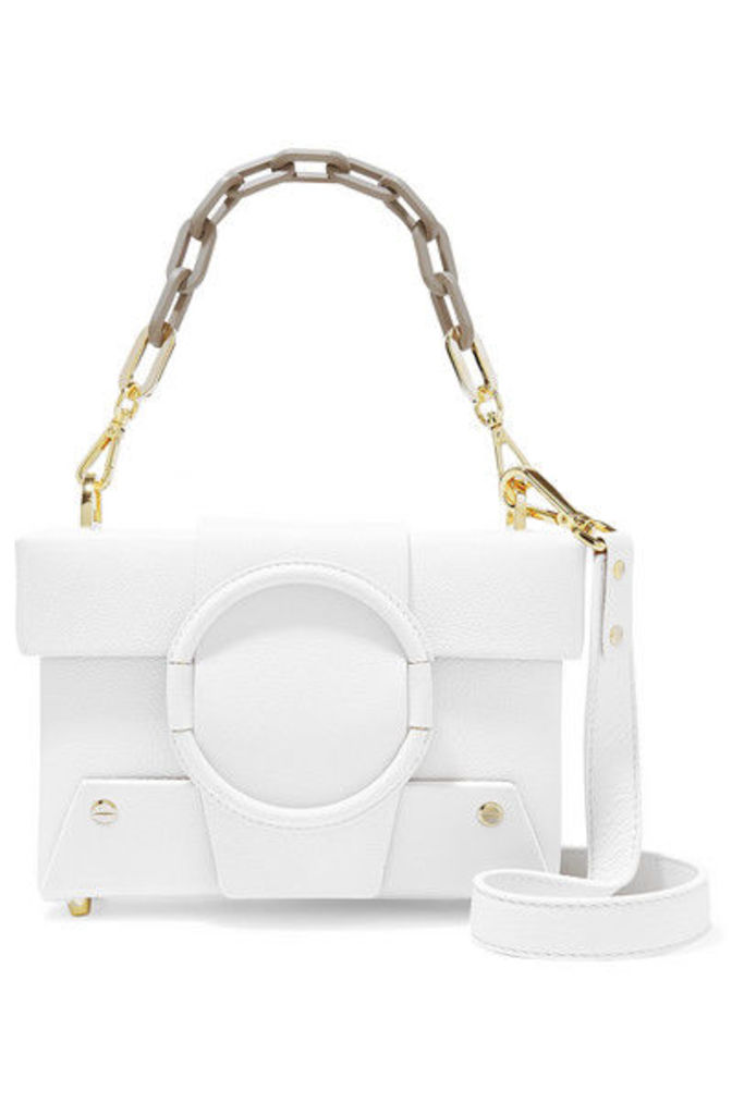 Yuzefi - Asher Small Textured-leather Shoulder Bag - White