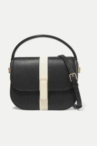 Valextra - Iside Textured-leather Shoulder Bag - Black