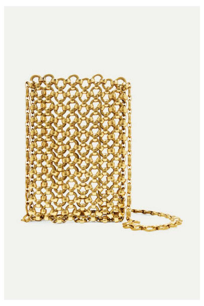Laura Lombardi - Gold-tone Brass Clutch - one size