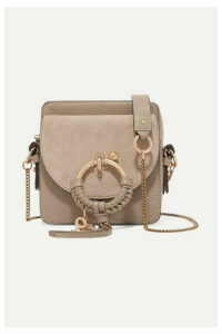 See By Chloé - Square Textured-leather And Suede Shoulder Bag - Gray