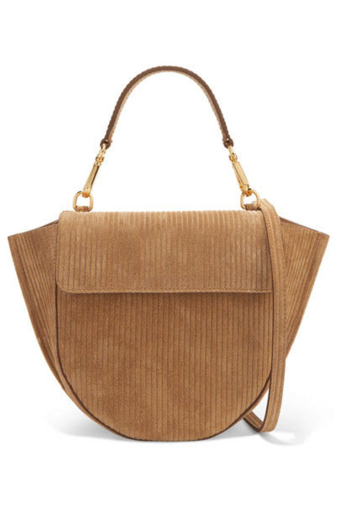 Wandler - Hortensia Mini Suede-corduroy Shoulder Bag - Light brown