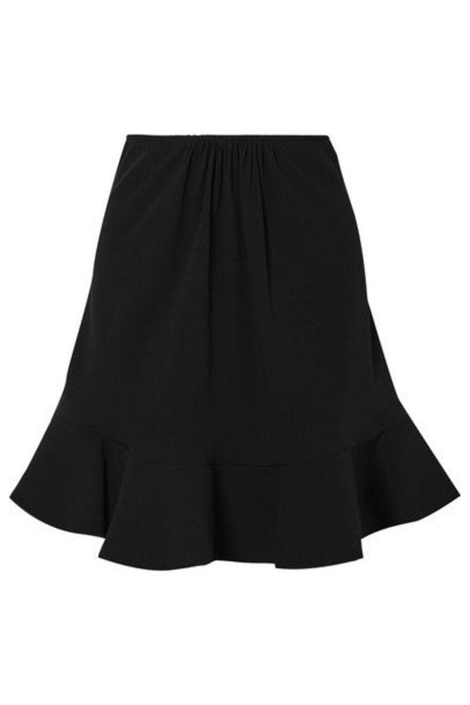 Chloé - Ruffled Crepe Skirt - Black