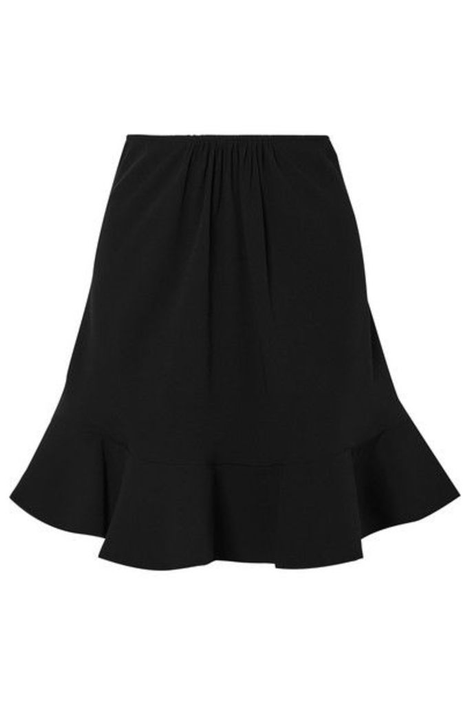 Chloé - Ruffled Crepe Skirt - Black