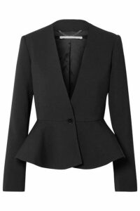 Stella McCartney - Wool-blend Peplum Blazer - Black