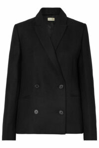 By Malene Birger - Rivali Double-breasted Twill Blazer - Black