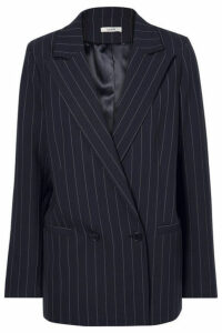 GANNI - Pinstriped Cady Blazer - Midnight blue