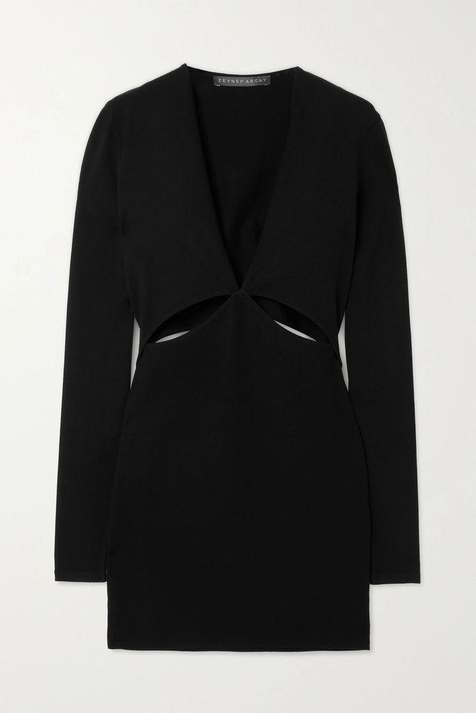 GANNI - Angela Fringed Textured-leather Jacket - Black