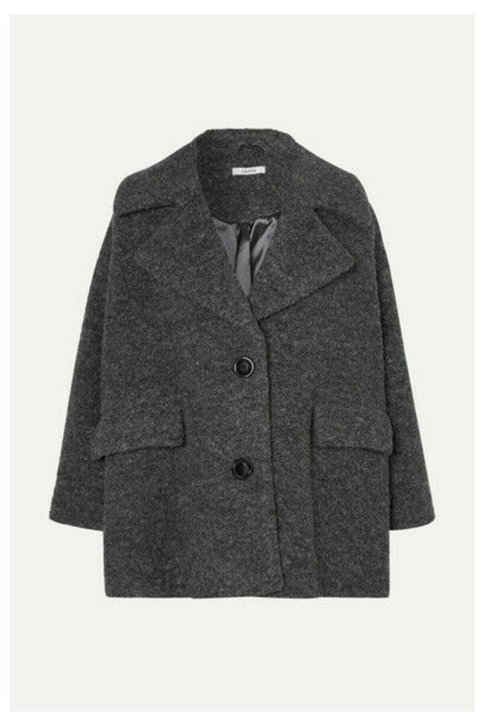 GANNI - Fenn Wool-blend Bouclé Jacket - Gray