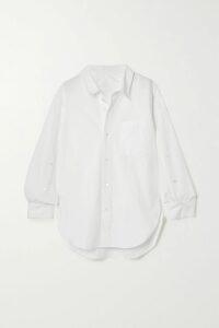 Yvonne S - Marie Antoinette Ruffled Printed Linen Maxi Dress - Antique rose