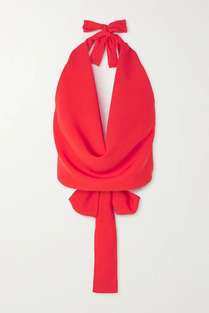 Zimmermann - Juno Floral-print Linen Maxi Dress - Brick