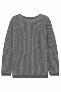 Theory - Ribbed Cashmere Sweater - Light gray