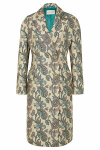 Etro - Cotton And Silk-blend Jacquard Coat - Cream