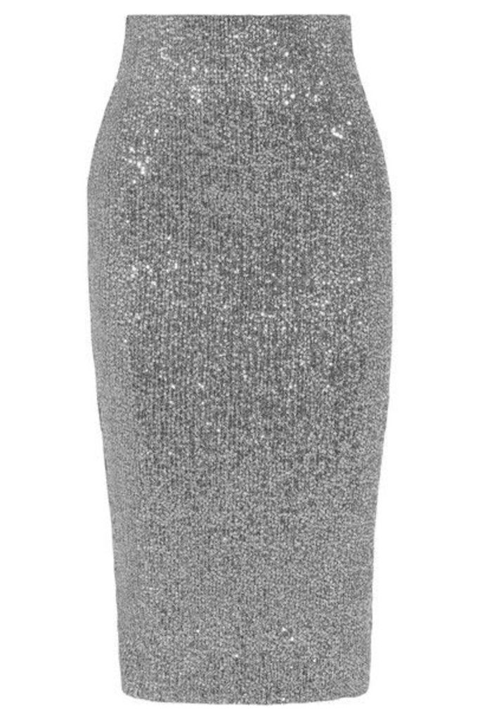 Rebecca Vallance - Andree Sequined Tulle Midi Skirt - Silver