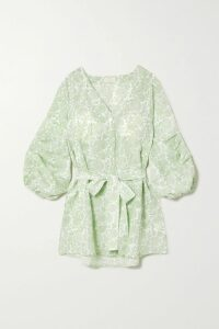 GANNI - Sequined Satin Skirt - Silver