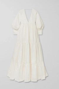 Altuzarra - Enya Striped Ribbed-knit Skirt - Black