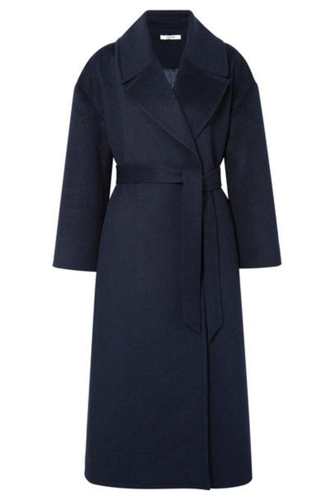 GANNI - Brushed Wool-blend Coat - Midnight blue