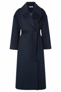 GANNI - Brushed Wool-blend Coat - Midnight blue