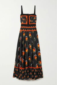 Etro - Tiered Printed Silk Crepe De Chine Skirt - Pink