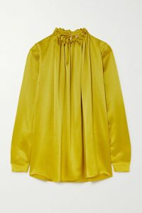 Borgo De Nor - Emme Tiered Floral-print Crepe De Chine Skirt - Black