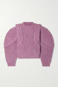 Borgo De Nor - Anna Floral-print Silk-georgette Maxi Dress - Purple