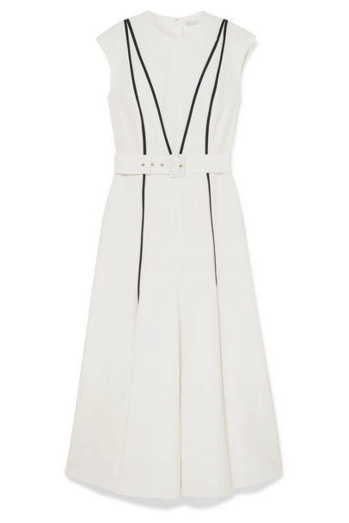 Emilia Wickstead - Denvella Striped Cloqué Midi Dress - White