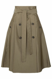 ADEAM - Cotton-blend Gabardine Midi Skirt - Army green