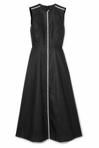 Christopher Kane - Crystal-embellished Coated-cotton Midi Dress - Black