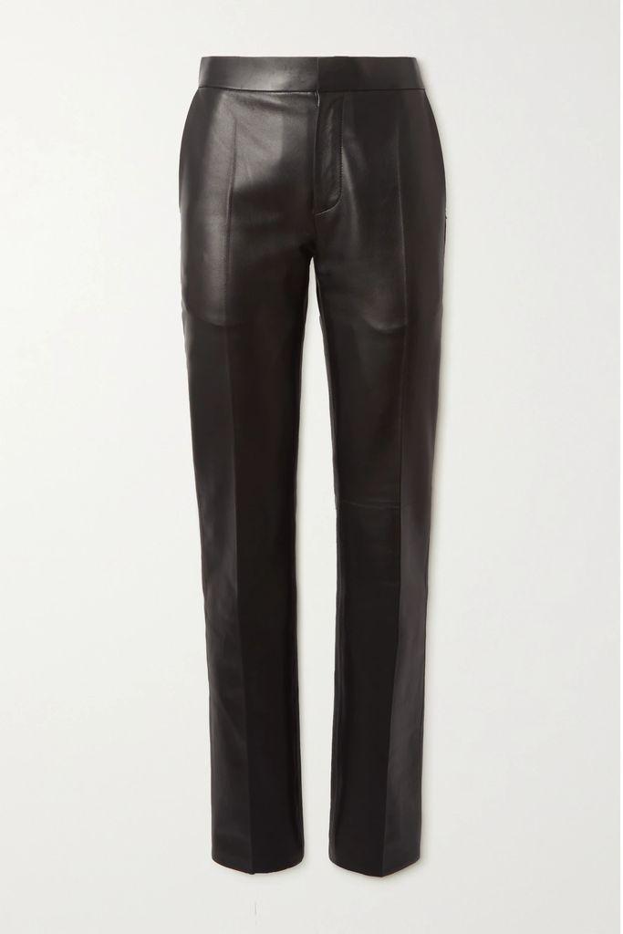 Anna Sui - Lace-trimmed Tiered Floral-print Devoré-georgette Skirt - Black