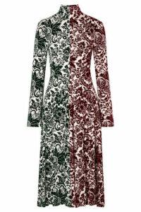 Rosie Assoulin - Hans Yolo Flocked Jersey Midi Dress - Green