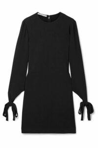 Stella McCartney - Tie-detailed Cady Mini Dress - Black
