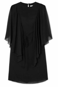 See By Chloé - Cape-effect Ruffled Georgette Mini Dress - Black