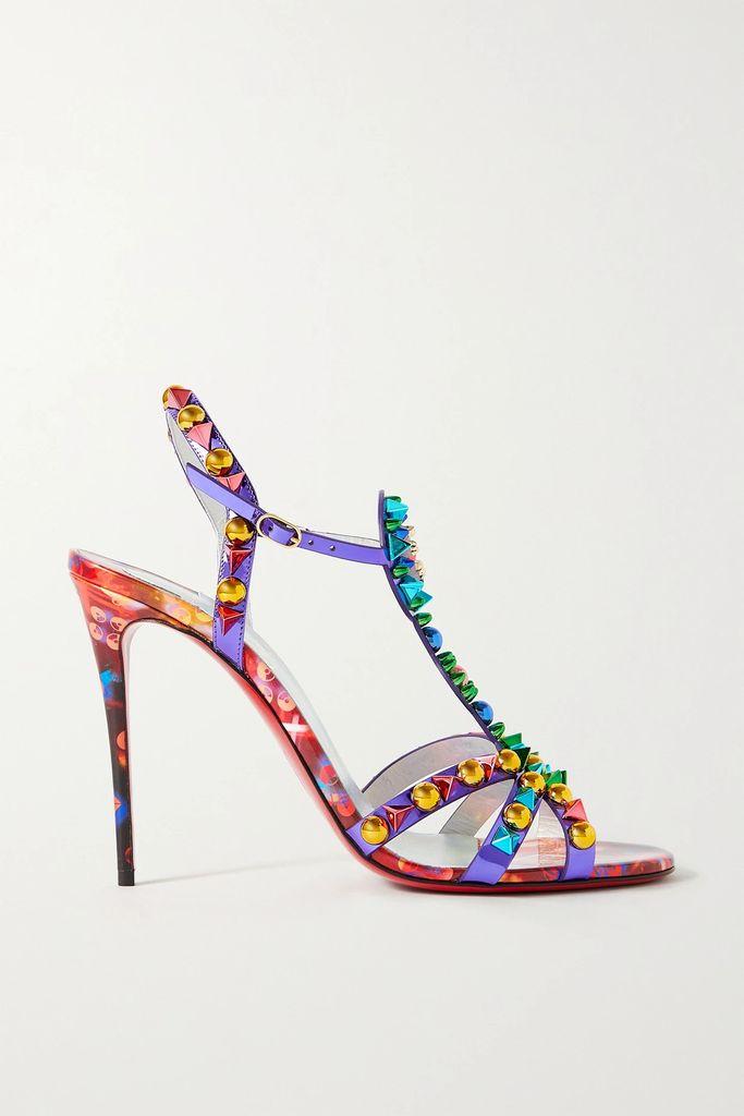 Proenza Schouler - Pswl Cropped Tie-dyed Cotton-poplin Shirt - Navy
