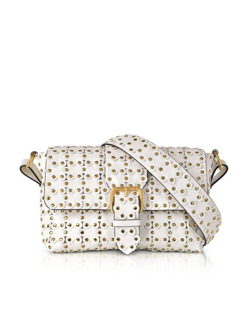 RED Valentino Designer Handbags, Flower Puzzle Leather Shoulder Bag