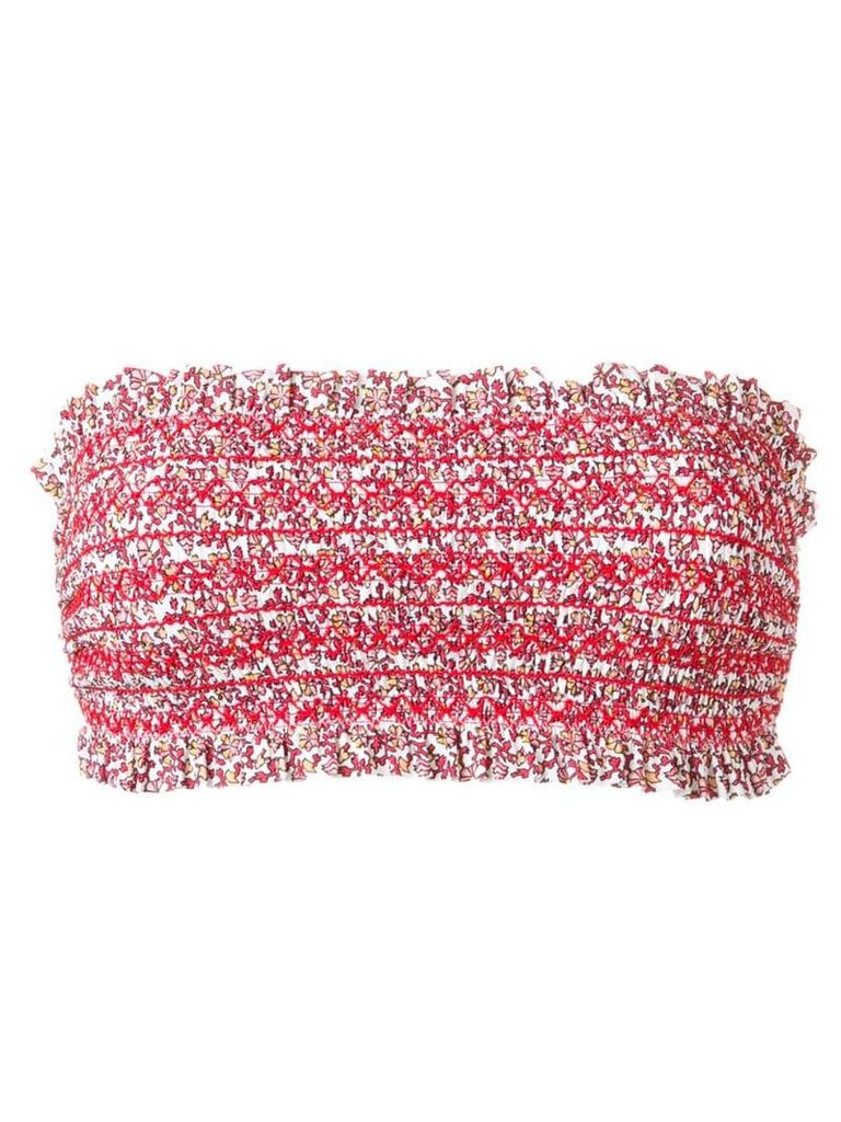 Tory Burch Costa print bandeau - Red