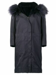 Liska Dunkel parka coat - Blue