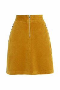 Womens Karen Millen Yellow Jumbo Cord Skirt -  Yellow