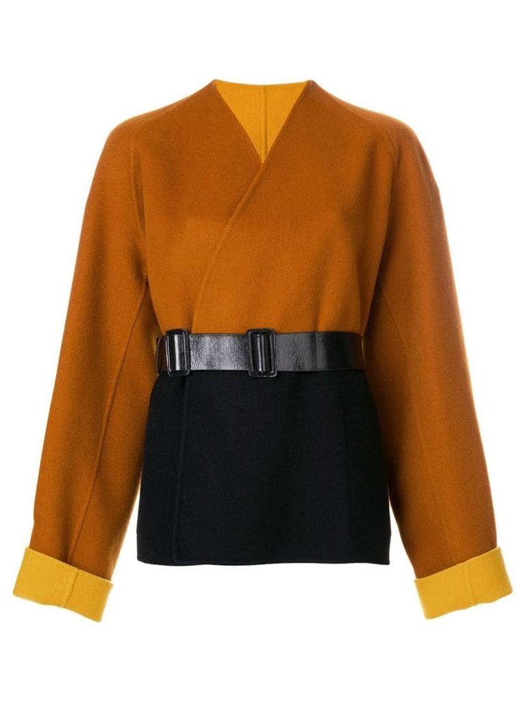 Bottega Veneta reversible caban coat - Brown