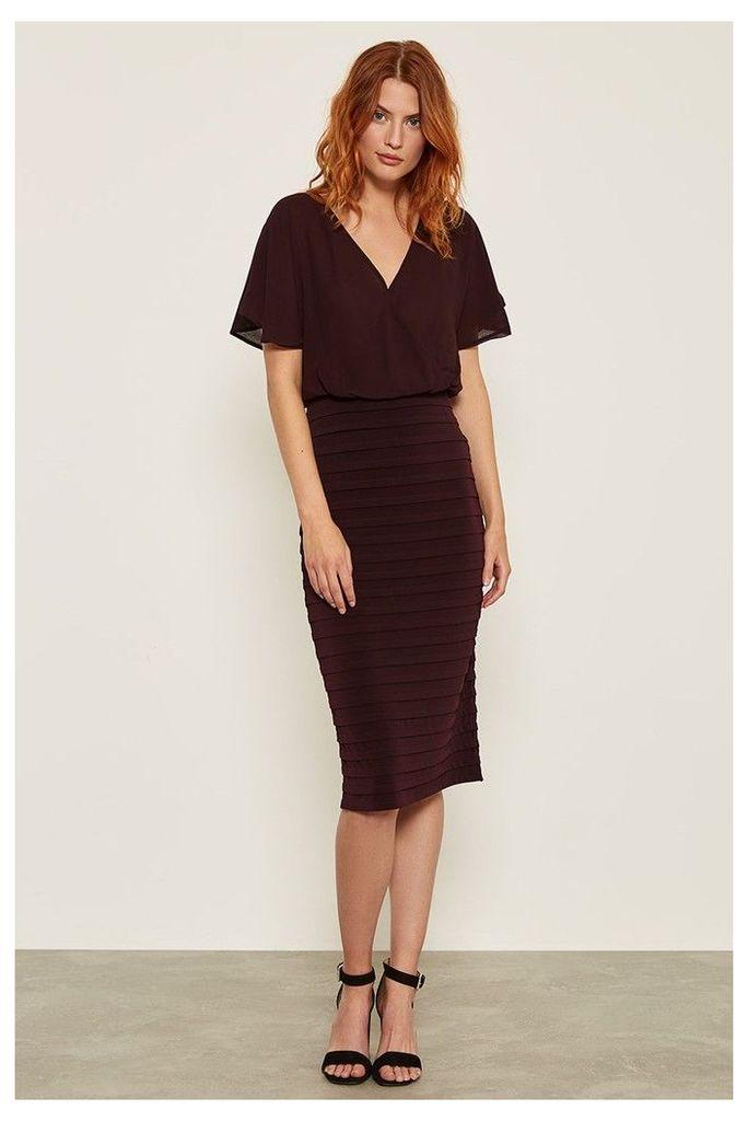 Womens Mint Velvet Red Bordeaux Wrap Bandage Dress -  Red