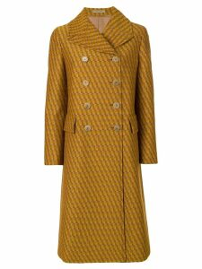 Bottega Veneta double breasted coat - Yellow