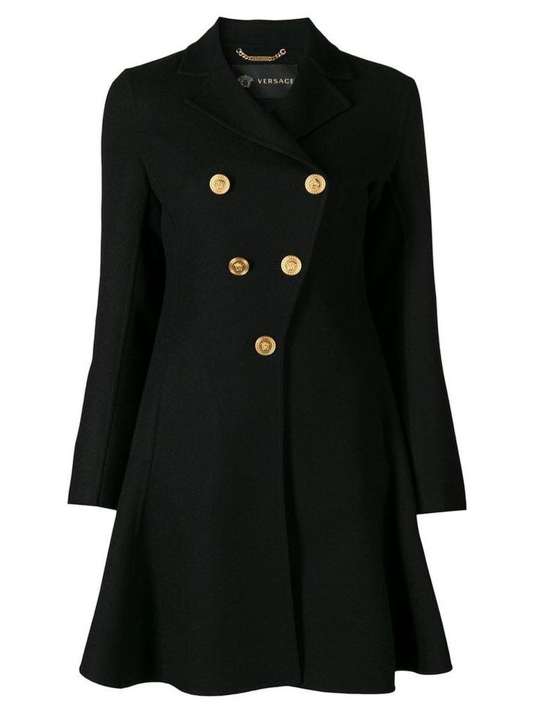 Versace flared coat - Black