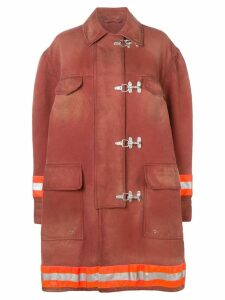 Calvin Klein 205W39nyc Couture-Sleeve Fireman coat - Brown