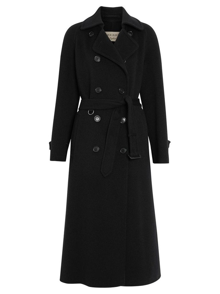 Burberry Double-faced Cashmere Tailored Coat - Black