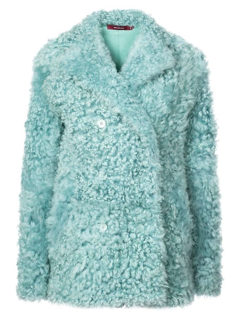 Sies Marjan sheepskin double breasted coat - Green