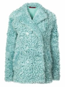 Sies Marjan sheepskin double breasted coat - Green