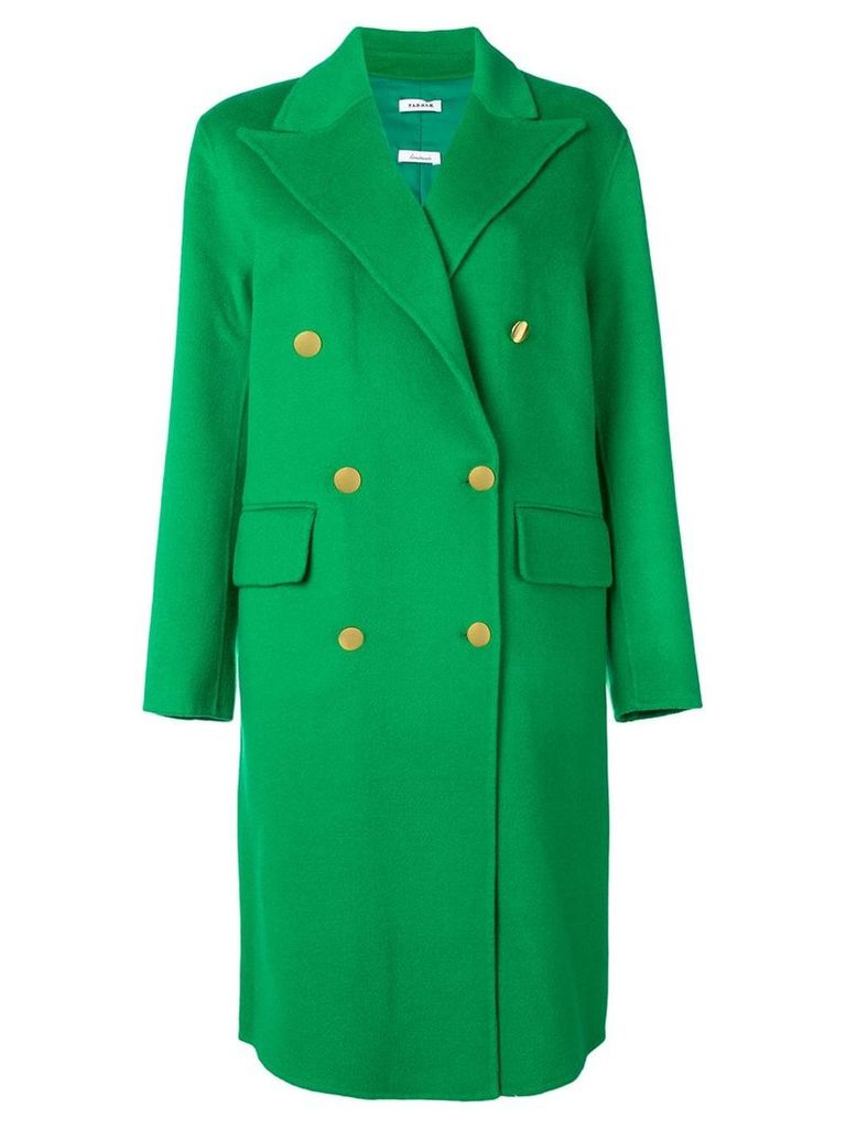 P.A.R.O.S.H. double breasted coat - Green