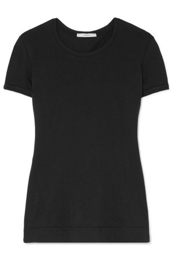 Adam Lippes - Pima Stretch-cotton Jersey T-shirt - Black