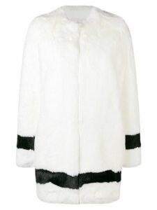 La Seine & Moi Petra faux-fur coat - White